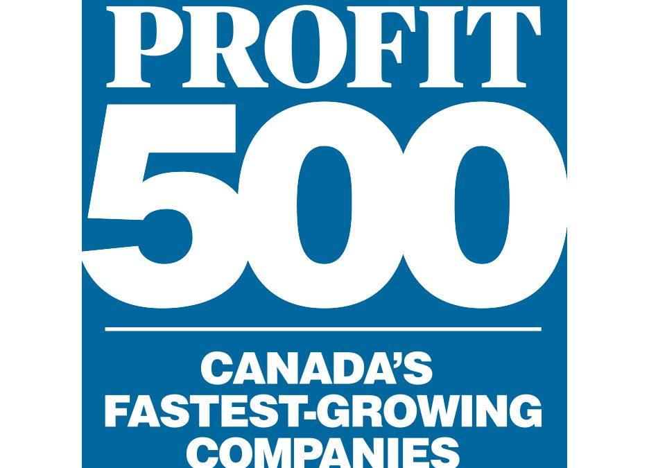 Winner in PROFIT 500 Fastest growing companies